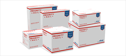 Image of Flat Rate USPS Boxes